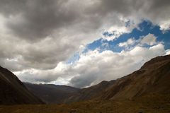 The andes, Cajon del Maipo Stock Photos