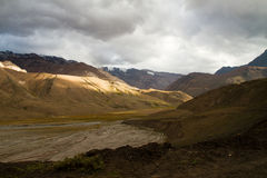 The andes, Cajon del Maipo Stock Image