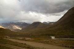 The andes, Cajon del Maipo Royalty Free Stock Photography
