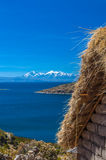 Andes. Cordillera, Isla del Sol - Titicaca lake, Bolivia royalty free stock photo