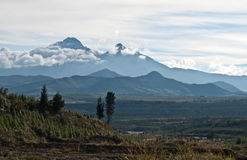 Andes. Ecuador. Ilinizas Nature Reserve. Los Ilinizas - these 2 volcanos: Iliniza Sur at 5263m and Iliniza Norte at 5126m, are located in the Eastern Stock Photography