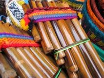 Andes fluiten Stock Foto's