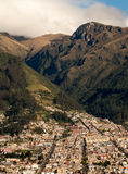 Andes Foothills. Quito, Ecuador, suburb at the foothills of the Andes mountains Royalty Free Stock Photography