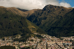 Andes Foothills-Horizontal. Quito, Ecuador, suburb at the foothills of the Andes mountains Royalty Free Stock Images
