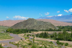Andes green valley landscape Stock Photography