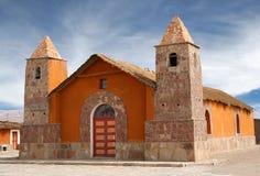 Andes kerk, Bolivië Stock Foto's