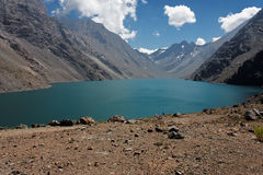 andes lake portillo Royaltyfria Foton