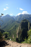 Andes from Machu Picchu Royalty Free Stock Photography