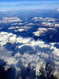 Andes Mountain From the Air Royalty Free Stock Image