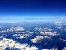 Andes Mountain From the Air Royalty Free Stock Photos