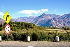 Andes mountain landscape view with clear sky stock images
