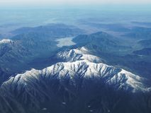 The Andes Mountain Range. Aerial view of the Andes Royalty Free Stock Photo