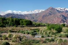 Andes mountain ridge Stock Photo