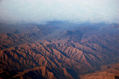 Andes Mountains. An aerial view of the andes mountains stock image
