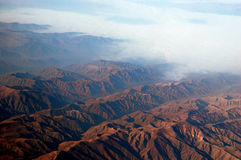 Andes Mountains. An aerial view of the andes mountains royalty free stock images