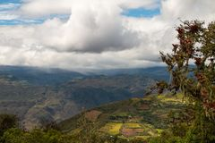 Landscape of the andean mountains in the north of peru. Andes mountains in the chachapoyas region of the amazones province of Peru Stock Image