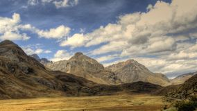 Andes Mountains and Clouds Royalty Free Stock Image