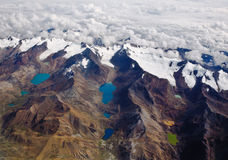 Andes Mountains and lakes in Bolivia Royalty Free Stock Photos