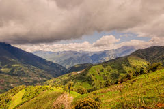 Andes Mountains In Rural Ecuador Stock Photography