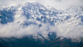 Andes Mountains Timelapse 4K. Clouds over The Andes Mountains timelapse stock footage