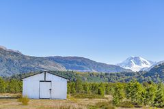 Andean Patagonia Landscape, Aysen, Chile. Andes patagonia landscape scene at aysen district, Chilea royalty free stock image
