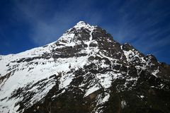 Andes Peak. Mountain peak in the Andes Mountains in Chile Stock Image