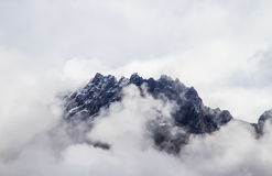 Cloud Covered Mountain Royalty Free Stock Photos