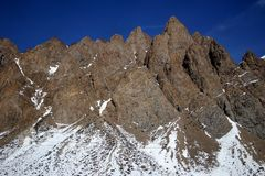 Andes Peaks. High peaks in the Andes Mountains near the border of Chile and Argentina Stock Photography