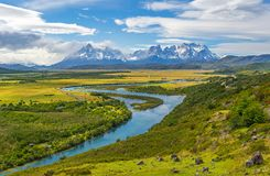 Torres del Paine Mountain Peaks, Patagonia, Chile stock photography