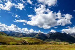 The Andes in Peru. Near the city of Cusco royalty free stock image