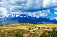 The Andes in Peru. Near the city of Cusco stock photography