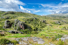 The Andes in Peru. Near the city of Cusco stock photo