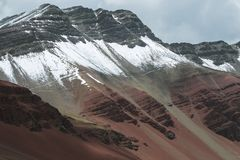 Andes in Peru. Serious steep peaks of Andes mountains in Peru royalty free stock photos