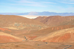 Andes plateau road Stock Image