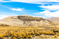 The Andes, Road Cusco- Puno, Peru,South America. 4910 m above. The longest continental mountain range in the world Royalty Free Stock Images