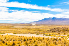 The Andes, Road Cusco- Puno, Peru,South America. 4910 m above. The longest continental mountain range in the world Stock Images