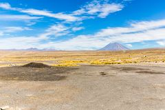 The Andes, Road Cusco- Puno, Peru,South America. 4910 m above. The longest continental mountain range in the world Royalty Free Stock Photos