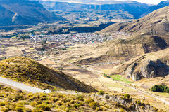 The Andes, Road Cusco- Puno, Peru,South America  4910 m above  The longest continental mountain range in the world Stock Photos