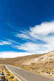 The Andes, Road Cusco- Puno, Peru,South America  4910 m above  The longest continental mountain range in the world Royalty Free Stock Images