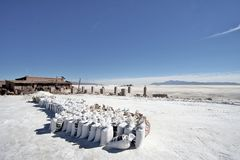 Andes Salt factory Royalty Free Stock Images
