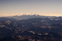 Andes seen from airplane Royalty Free Stock Photography