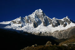 Andes sky and snowy mountain Royalty Free Stock Photos