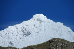 Andes snow covered mountain Stock Photography