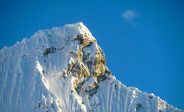 Andes snow mountains, Huascaran royalty free stock images