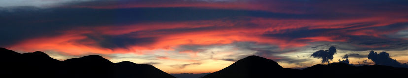 Andes sunset - panoramic Royalty Free Stock Photography