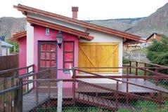 Andes típicos dirigem no EL Chalten Imagens de Stock