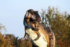 Andeutende Rekonstruktion von Tyrannosaurus rex - Ostellato, Ferrara, Italien Stockfoto