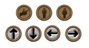 Andeutungen und Zeichen WC Lizenzfreies Stockfoto
