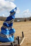 Andeväg Wolf Statue av musik Arkivbilder