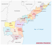 Andhra Pradesh administrative and political map, India Royalty Free Stock Photo